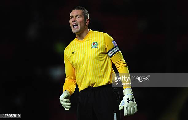 Blackburn keeper Paul Robinson in action during the npower Championship match between Blackburn Rovers and Cardiff City at Ewood park on December 7...