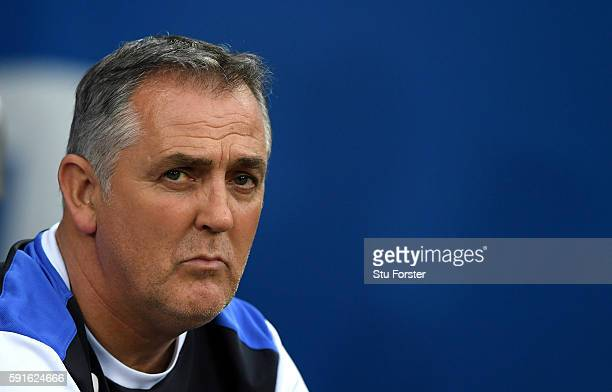 Blackburn manager Owen Coyle looks on before the Sky Bet Championship match between Cardiff City and Blackburn Rovers at Cardiff City Stadium on...