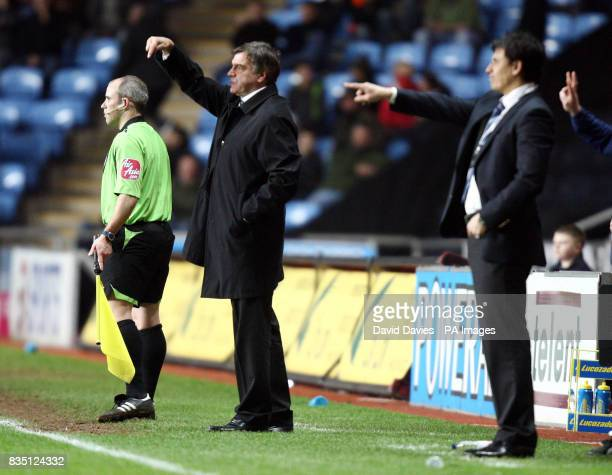 Blackburn manager Sam Allardyce during the FA Cup Fifth Round Replay at the Ricoh Arena Coventry
