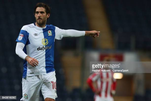 Blackburn Rovers' Danny Graham during the match EFL Checkatrade Trophy Northern Section Group C match between Blackburn Rovers and Stoke City U23s at...
