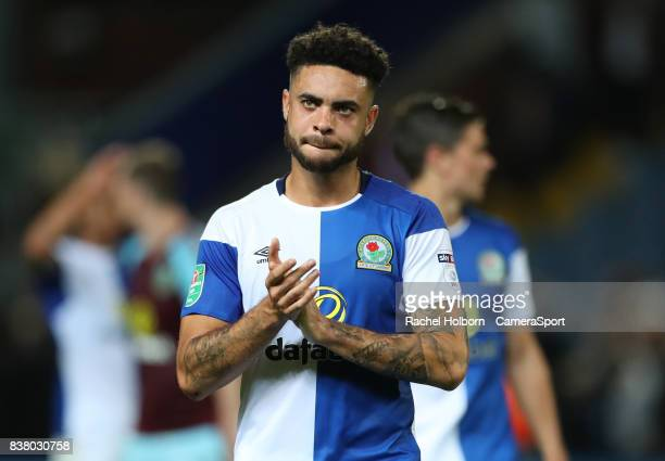 Blackburn Rovers' Derrick Williams at the end of the match during the Carabao Cup Second Round match between Blackburn Rovers and Burnley at Ewood...