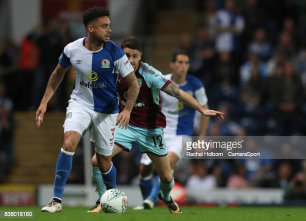 Blackburn Rovers' Derrick Williams during the Carabao Cup Second Round match between Blackburn Rovers and Burnley at Ewood Park on August 23 2017 in...