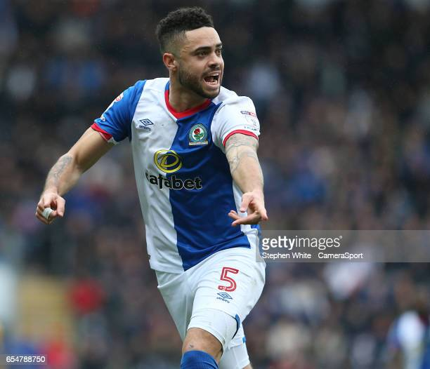 Blackburn Rovers' Derrick Williams during the Sky Bet Championship match between Blackburn Rovers and Preston North End at Ewood Park on March 18...