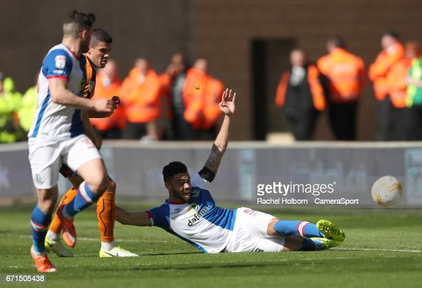 Blackburn Rovers' Derrick Williams during the Sky Bet Championship match between Wolverhampton Wanderers and Blackburn Rovers at Molineux on April 22...
