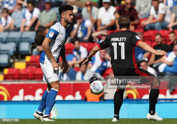 Blackburn Rovers' Derrick Williams during the Sky Bet League One match between Blackburn Rovers and Milton Keynes Dons at Ewood Park on August 26...