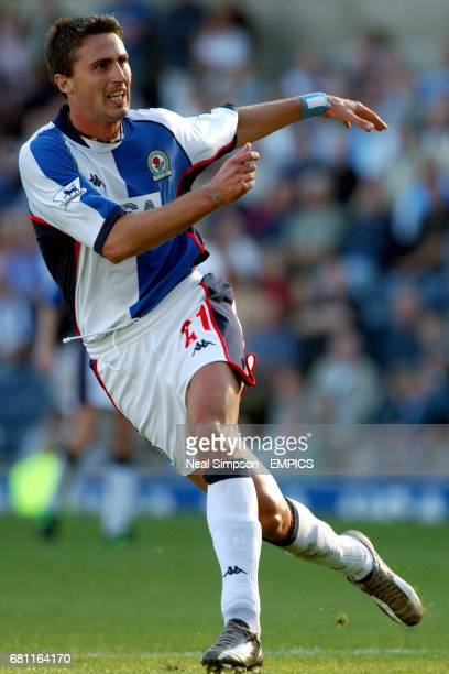 Blackburn Rovers' Dino Baggio in action