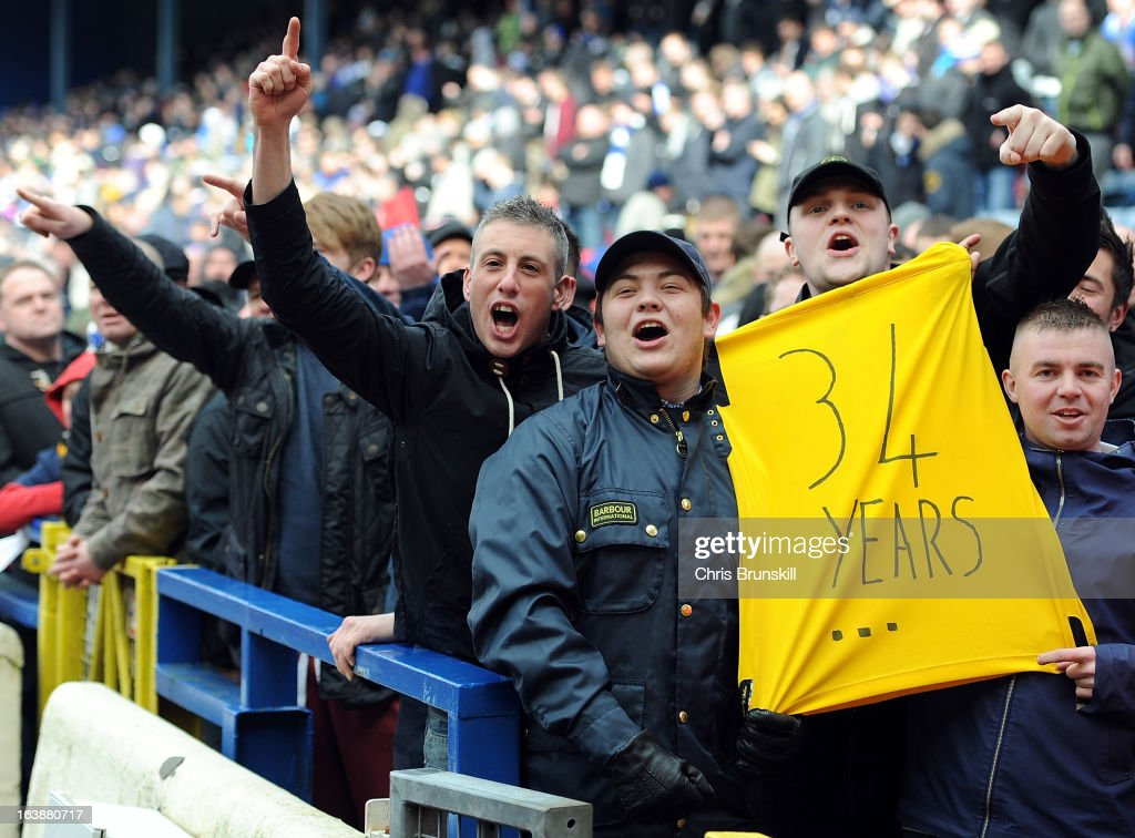 Blackburn Rovers fans display a banner during the npower Championship match between Blackburn Rovers and Burnley at Ewood park on March 17, 2013 in Blackburn, England.