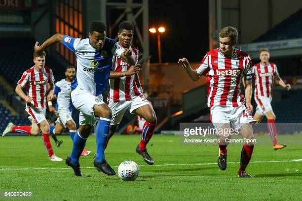 Blackburn Rovers' Joe Nuttall breaks during the match EFL Checkatrade Trophy Northern Section Group C match between Blackburn Rovers and Stoke City...