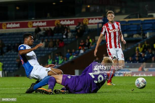Blackburn Rovers' Joe Nuttall scores his side's first goal during the match EFL Checkatrade Trophy Northern Section Group C match between Blackburn...