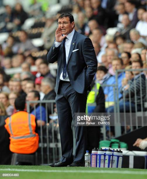Blackburn Rovers manager Gary Bowyer gives instructions from the touchline