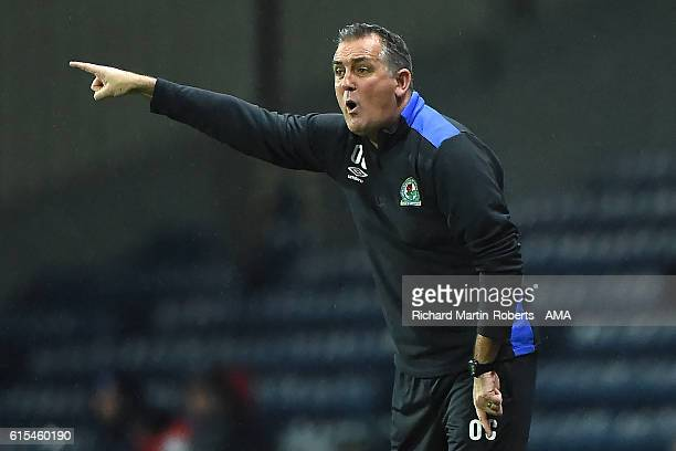 Blackburn Rovers Manager / Head Coach Owen Coyle reacts during the Sky Bet Championship match between Blackburn Rovers and Nottingham Forest at Ewood...