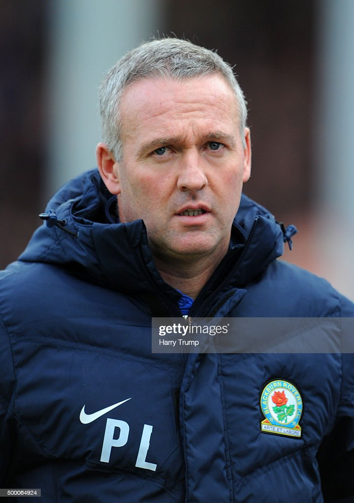 Blackburn Rovers Manager <a gi-track='captionPersonalityLinkClicked' href=/galleries/search?phrase=Paul+Lambert+-+Soccer+Manager&family=editorial&specificpeople=8052775 ng-click='$event.stopPropagation()'>Paul Lambert</a> during the Sky Bet Championship match between Bristol City and Blackburn Rovers at Ashton Gate on December 5, 2015 in Bristol, England.