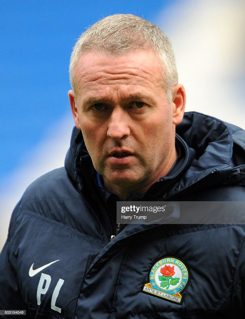 Blackburn Rovers Manager <a gi-track='captionPersonalityLinkClicked' href=/galleries/search?phrase=Paul+Lambert+-+Soccer+Manager&family=editorial&specificpeople=8052775 ng-click='$event.stopPropagation()'>Paul Lambert</a> prior to the Sky Bet Championship match between Cardiff City and Blackburn Rovers at the Cardiff City Stadium on January 2, 2016 in Cardiff, Wales.