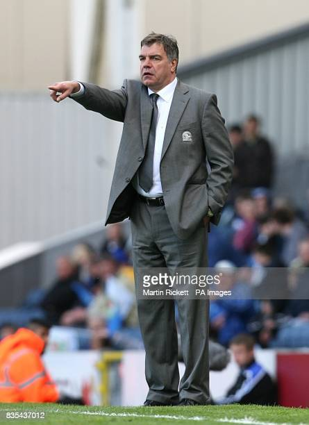 Blackburn Rovers manager Sam Allardyce on the touchline during the match