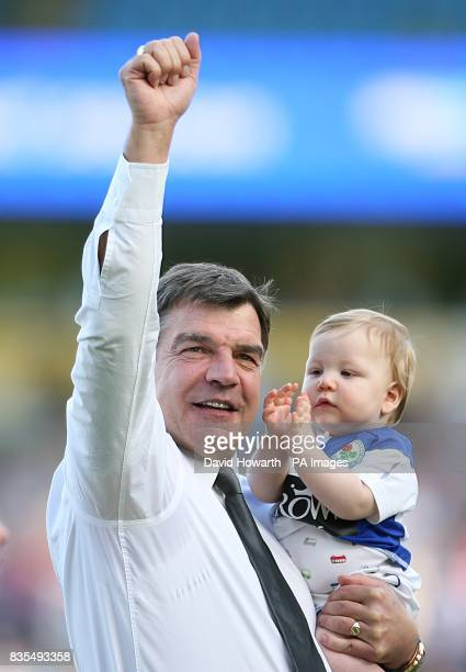 Blackburn Rovers manager Sam Allardyce waves to the home fans after the final whistle
