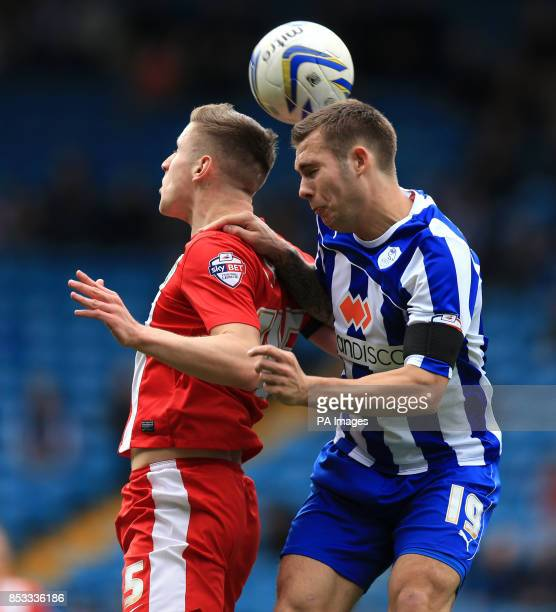 Blackburn Rovers' Tom Cairney and Sheffield Wednesday's Lewis Buxton during the Sky Bet Championship match at Hillsborough Sheffield