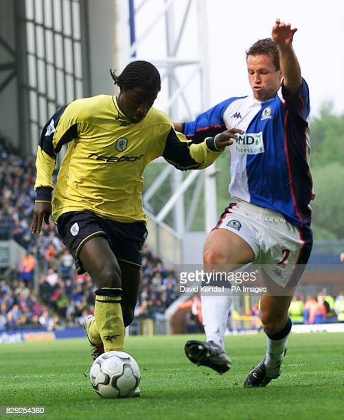Blackburn's Lucas Neil tackles Bolton's Bernard Mendy during the FA Barclaycard Premiership match at Ewood Park Blackburn Final score 00 THIS PICTURE...