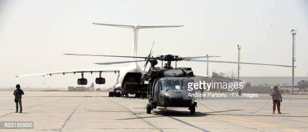 Blackhawk Helicopters on the tarmac at Baghdad International Airport