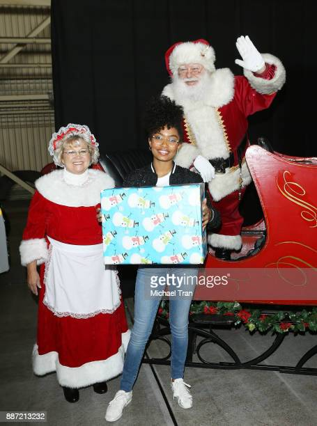 'Blackish' star Yara Shahidi joins Delta Air Lines in hosting 7th Annual 'Holiday In The Hangar' event held at LAX Airport on December 6 2017 in Los...