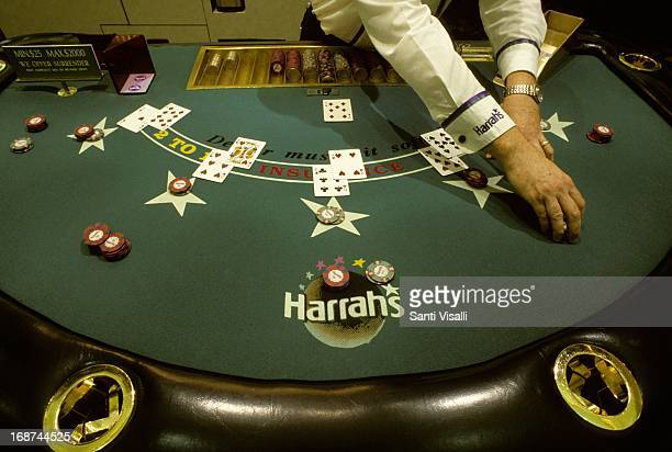 Blackjack at Harrah's Casino on January 3 1996 in Las Vegas Nevada