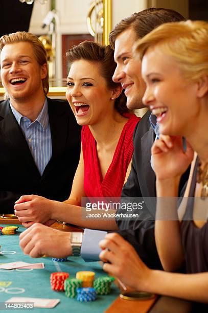 BlackJack Table. Friends having a good time!