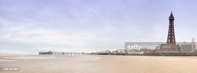 Blackpool Beach with Tower
