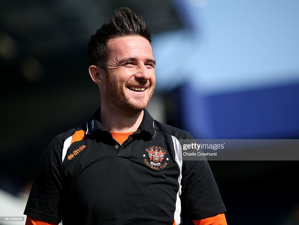 Blackpool manager Barry Ferguson during the Sky Bet Championship match between Queens Park Rangers and Blackpool at Loftus Road on March 29 2014 in...