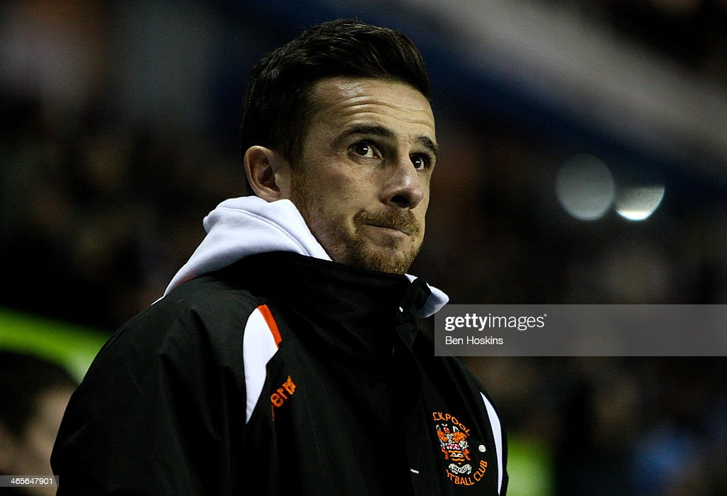 Blackpool manager Barry Ferguson looks on ahead of the Sky Bet Championship match between Reading and Blackpool at Madejski Stadium on January 28...