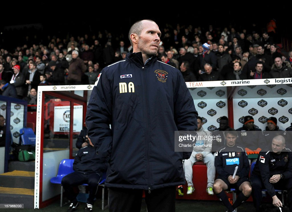 Blackpool manager Michael Appleton looks on before the npower Championship match between Crystal Palace and Blackpool at Selhurt Park on December 08, 2012 in London, England.