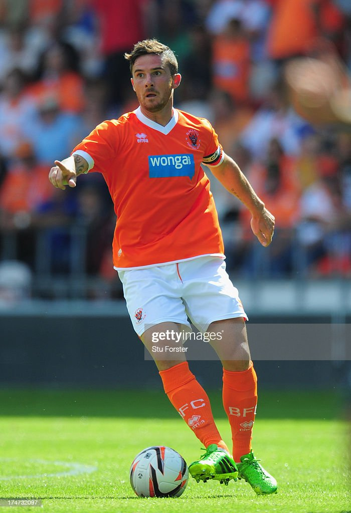 Blackpool player Barry Ferguson in action during the pre season friendly match between Blackpool and Newcastle United at Bloomfield Road on July 28...