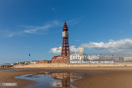 Blackpool Tower, from the beach.