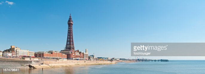 Blackpool Tower promenade panorama UK