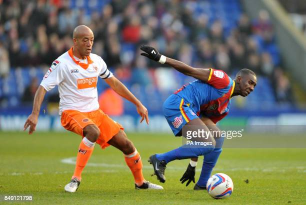 Blackpool's Alex Baptiste and Crystal Palace's Yannick Bolasie during the npower Championship match at Selhurst Park