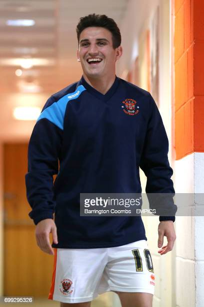 Blackpool's Jack Redshaw is all smiles as he makes his way out of the dressing room before the game