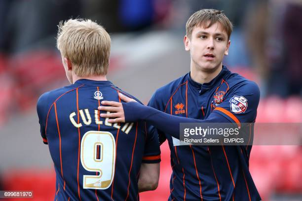 Blackpool's Mark Cullen and Liam Smith