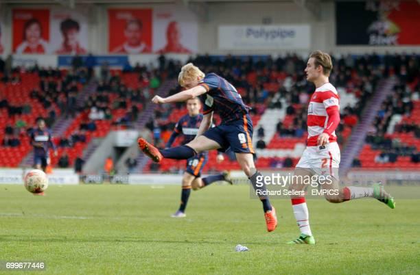 Blackpool's Mark Cullen scores