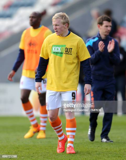 Blackpool's Mark Cullen training before the game
