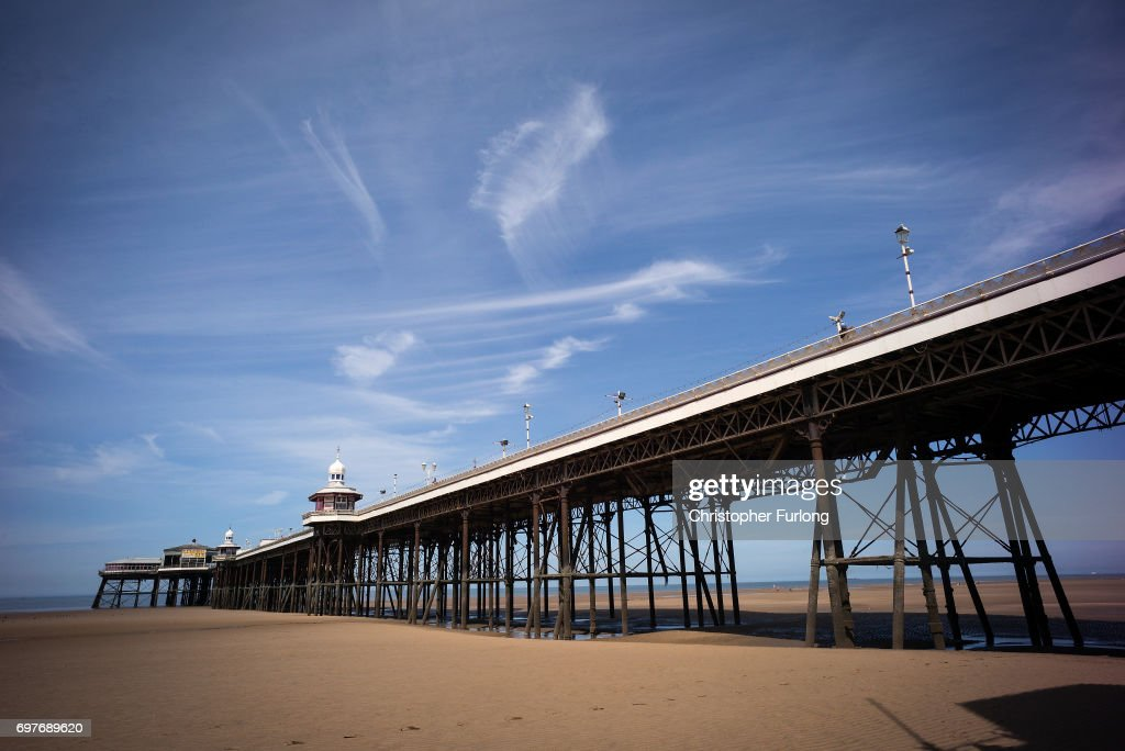 Blackpool's North Pier basks in the sunshine on June 19, 2017 in Blackpool, England. The UK has officially been put on heatwave alert as the Government issued a level three amber heat warning as temperatures are set to increase. In some parts of the Uk temperatures are expected to peak at 34C.