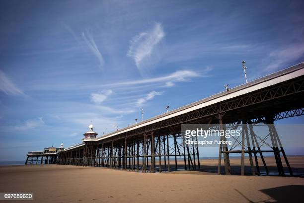Blackpool's North Pier basks in the sunshine on June 19 2017 in Blackpool England The UK has officially been put on heatwave alert as the Government...