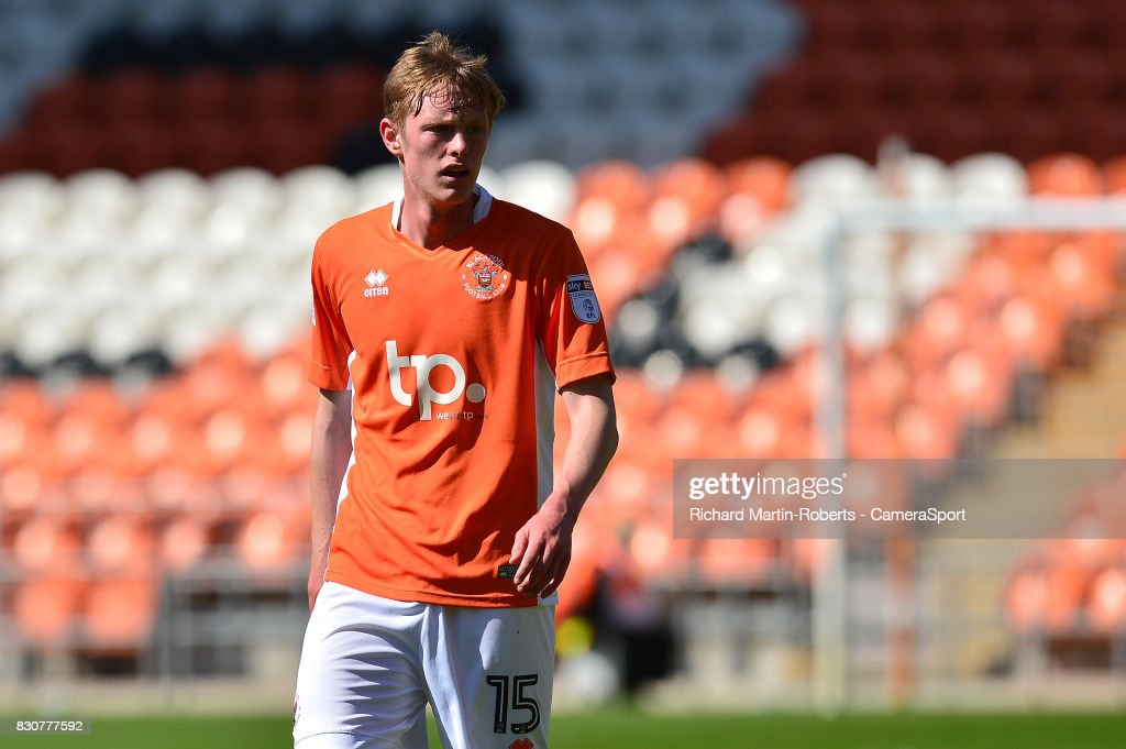Blackpool's Sean Longstaff looks on during the Sky Bet League One match between Blackpool and Milton Keynes Dons at Bloomfield Road on August 12, 2017 in Blackpool, England.