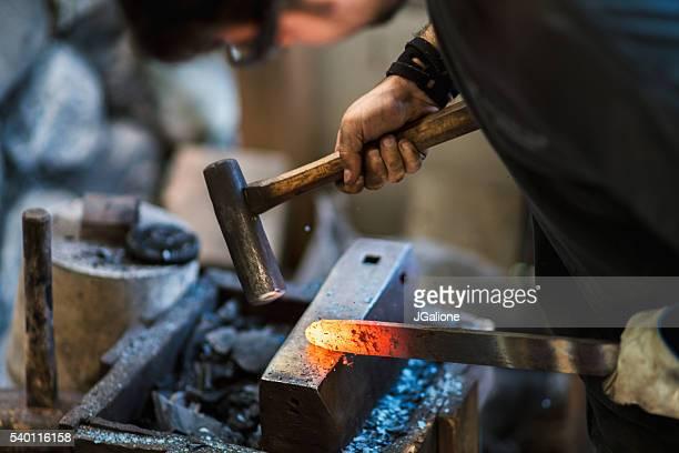 Schmied fördern eine traditionelle japanische Küche Messer