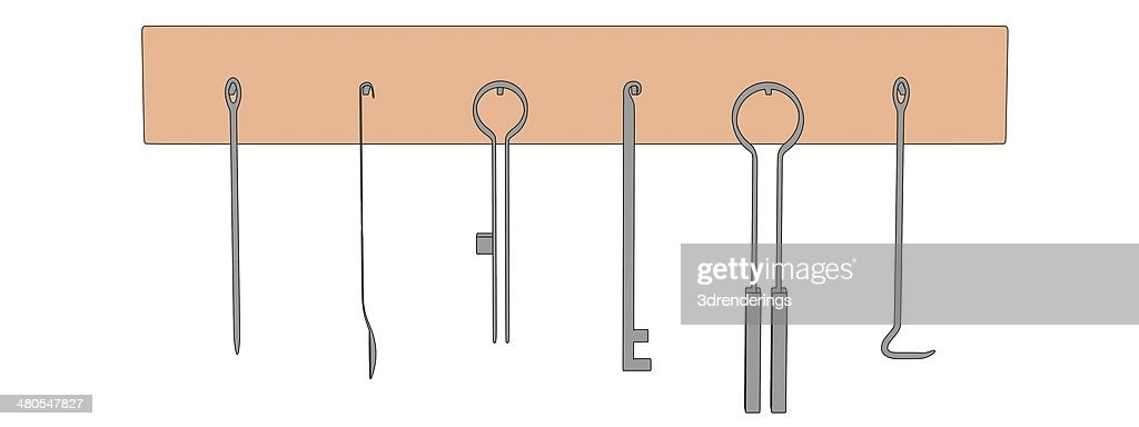 blacksmith shelf with tools : Stock Photo