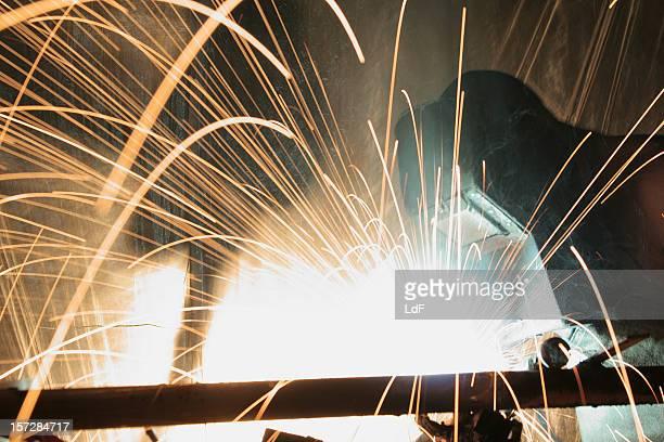 Black-smith welding steel