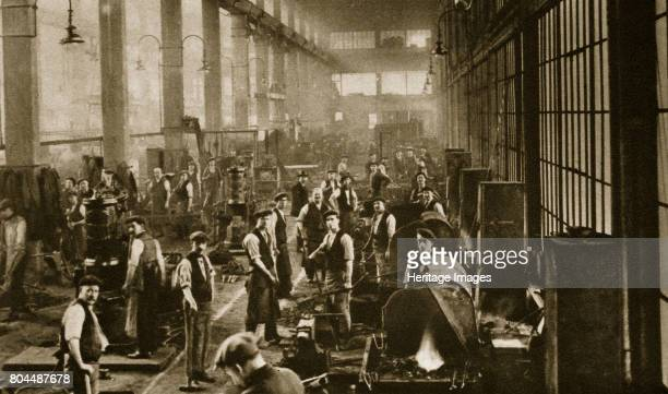 A blacksmith's shop at Beckton Gas Works London 20th century Opened in 1870 Beckton Gas Works manufactured coal gas and coke and has been described...