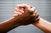 Black-white arm wrestling