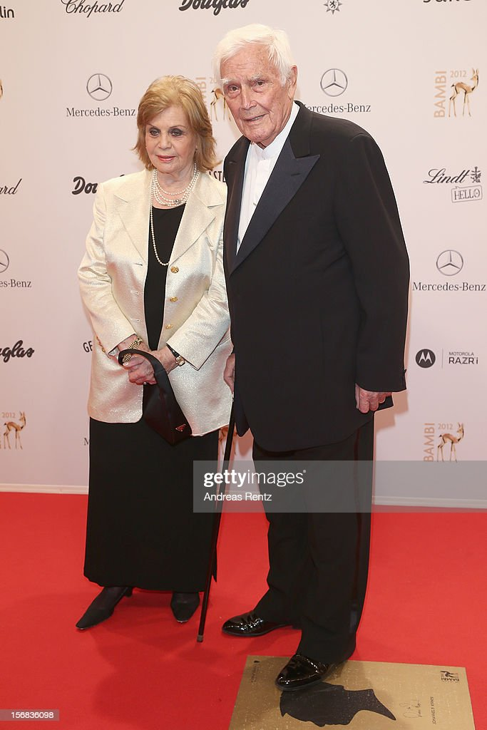 Blacky Fuchsberger and wife Gundula Fuchsberger attends 'BAMBI Awards 2012' at the Stadthalle Duesseldorf on November 22, 2012 in Duesseldorf, Germany.