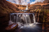 Waterfalls near the Blaen y Glyn forest, Brecon Beacons, South Wales