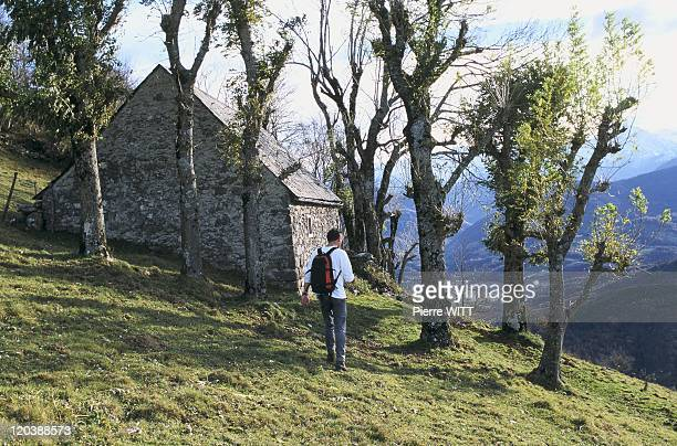 Blague valley Ariege Pyrenees France Last barn before Castle Segui