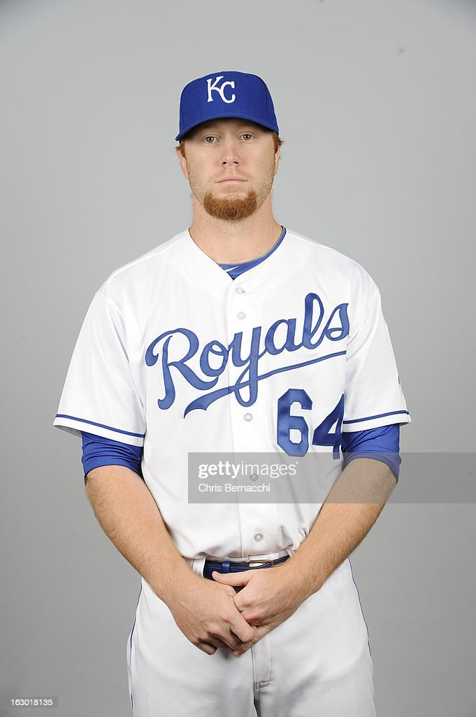 <a gi-track='captionPersonalityLinkClicked' href=/galleries/search?phrase=Blaine+Boyer&family=editorial&specificpeople=836412 ng-click='$event.stopPropagation()'>Blaine Boyer</a> #64 of the Kansas City Royals poses during Photo Day on February 21, 2013 at Surprise Stadium in Surprise, Arizona.