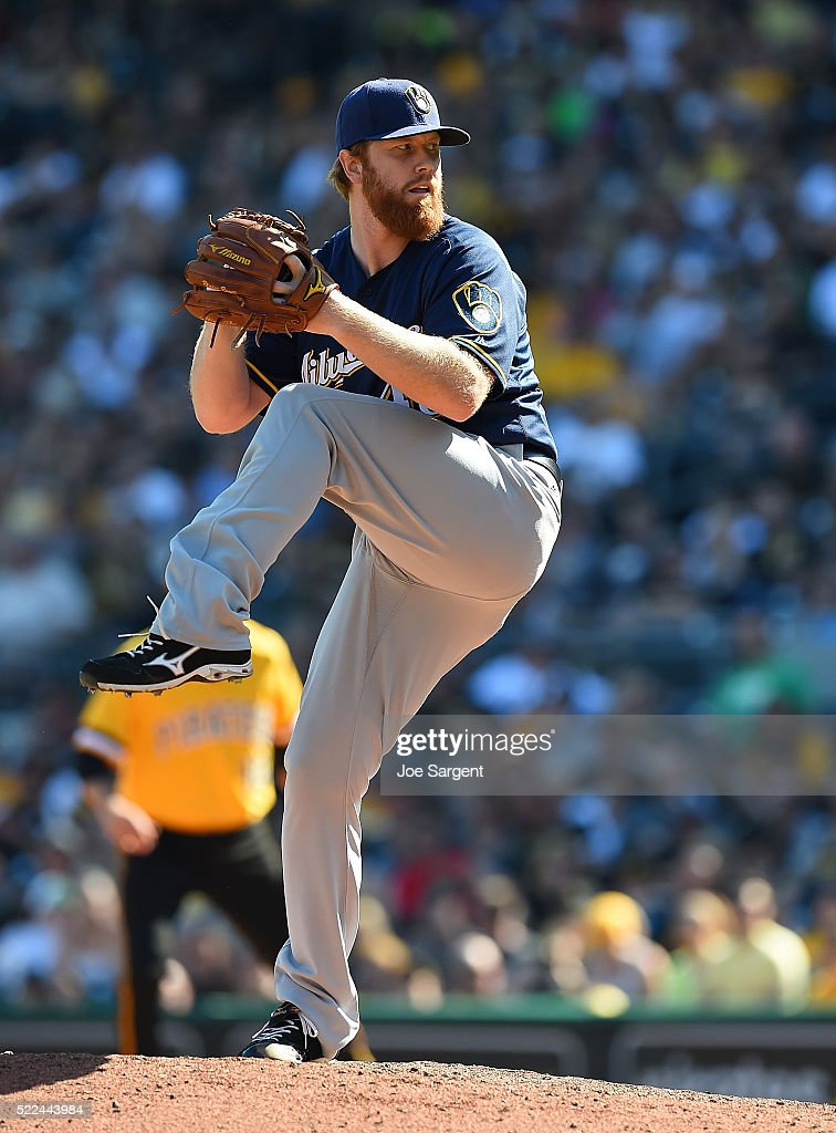 <a gi-track='captionPersonalityLinkClicked' href=/galleries/search?phrase=Blaine+Boyer&family=editorial&specificpeople=836412 ng-click='$event.stopPropagation()'>Blaine Boyer</a> #48 of the Milwaukee Brewers pitches during the game against the Pittsburgh Pirates on April 17, 2016 at PNC Park in Pittsburgh, Pennsylvania.